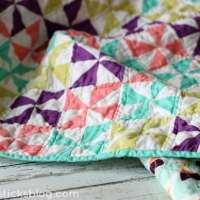 Easy Pinwheel Baby Quilt