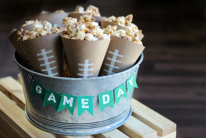 Game Day Chocolate Caramel Popcorn