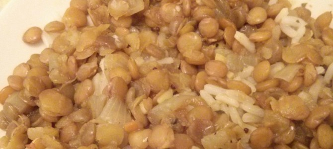 Lentils and rice: an easy, healthy recipe