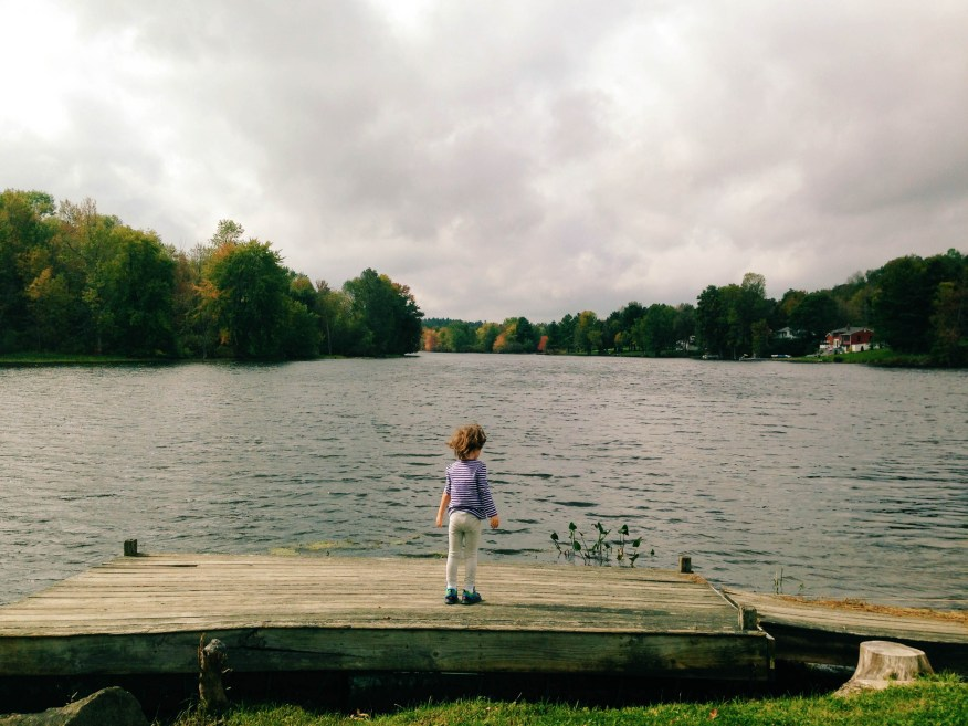 Maine- Lu at the lake