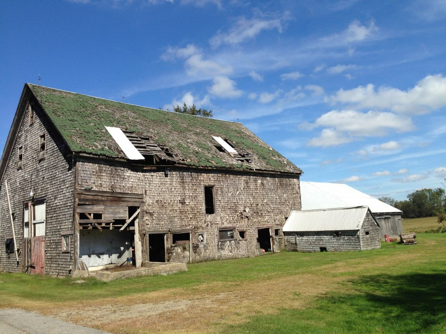 Maine- broken-down barn