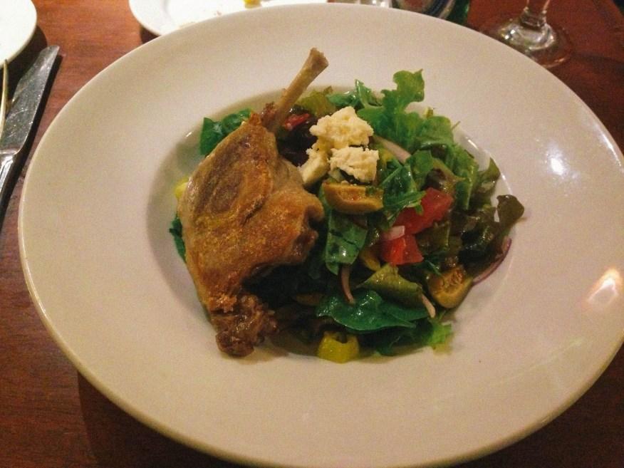 Vermont- duck confit salad