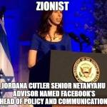 Look who's the new Head of Policy & Communication at FB – ONLY A SENIOR ADVISER TO NETANYAHU!