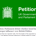 Parliament debate whether Israel has 'improper influence' over British Politics