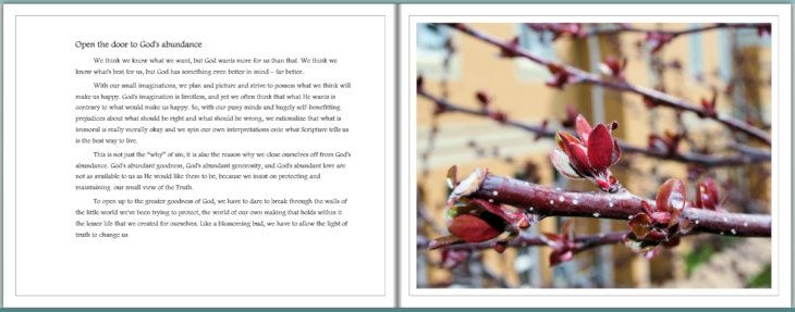 Living in God's Abundance photobook