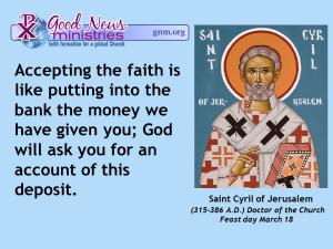 Saint Cyril of Jerusalem