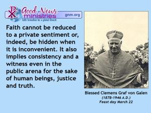 Blessed Clemens Graf von Galen