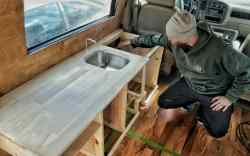 Cozy Custom Van Build Kitchen Cabinets How We Made Custom Kitchen Cabinets Our Diy Van Build Gnomad Home Built Kitchen Griddle Built Kitchen Islands