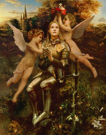 Joan of Arc Fleur de lis Meaning   Blood line of the the Blessed Trinity