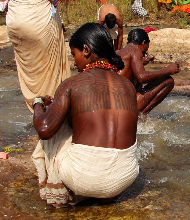 Baiga woman tattoo Lost Tribe of Judah Found: The Scattered Children of Bab El