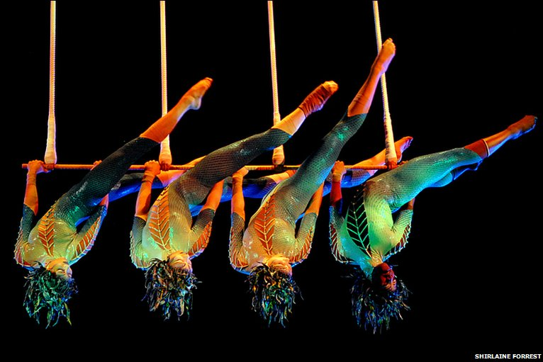 Fitness trends - Aerial fitness based on Cirque du Soleil