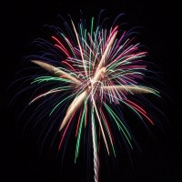 Massachusetts Fireworks: Multicolored shell
