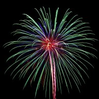 Massachusetts Fireworks: Magnificent multicolor burst