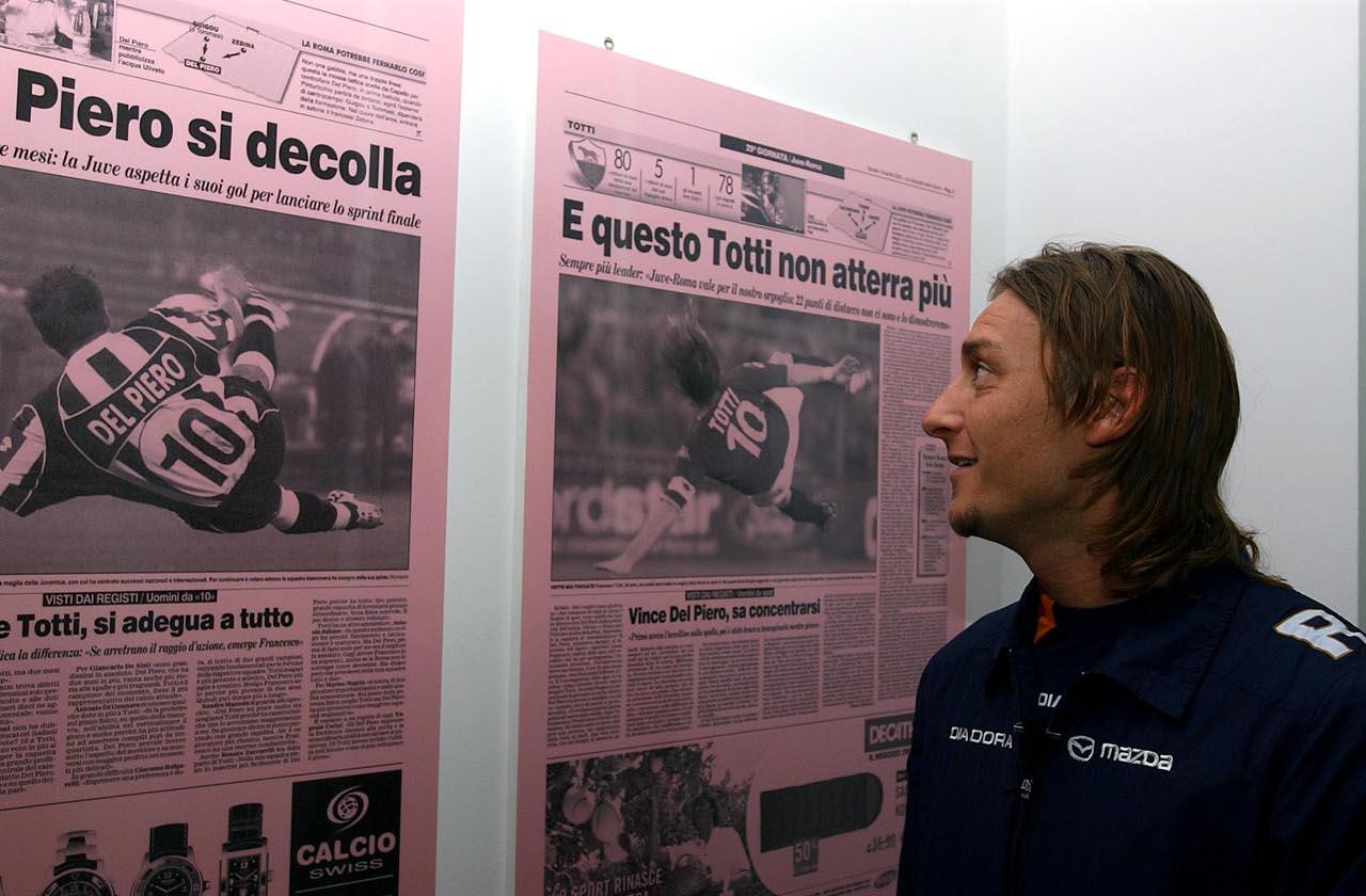 Francesco Totti in Gazzetta dello Sport in 2005