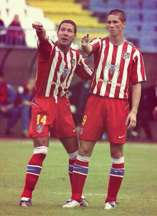 Diego Simeone (Atlético Madrid, 1994–1997, 98 apps, 21 goals along with El Nino