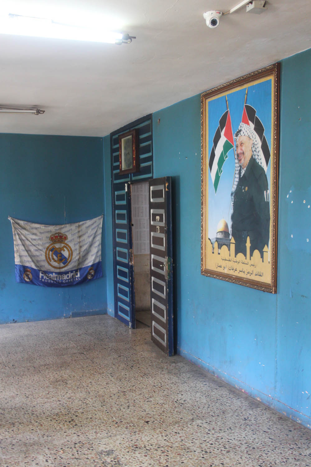 Real Arafat: As much as Palestinians like Yasser Arafat, his fame is considerably threatened by Spanish giants Real Madrid and Barcelona. It is obvious who is supported by people who flock to this social club in Hebron down town.