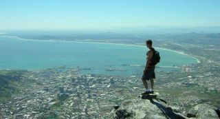 Looking out over Cape Town from Table Mountain.