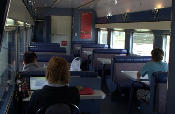 Dining Car in Red Class