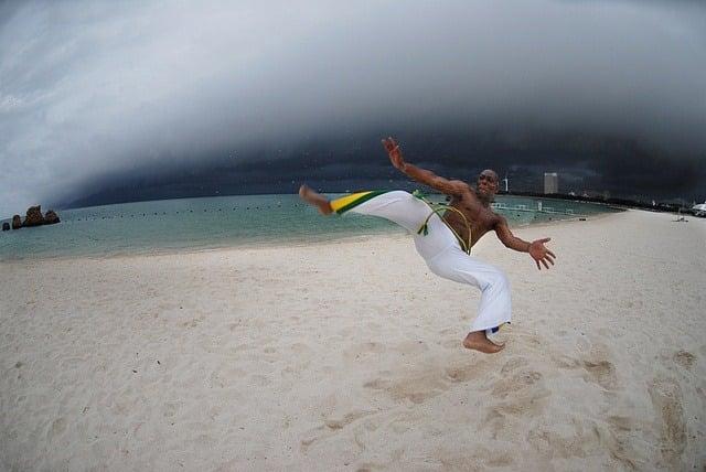 brazilian capoeira dancer