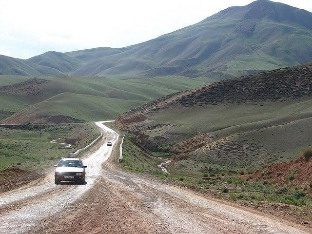 kyrgyzstan road