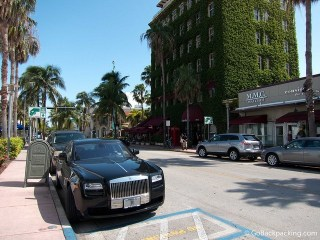 A Rolls Royce in South Beach