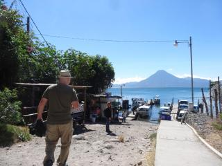 Dave wearing the Pick-Pocket Proof Convertible Pants in Lake Atitlan, Guatemala