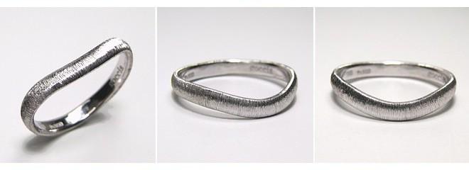 U字のマリッジリング・結婚指輪