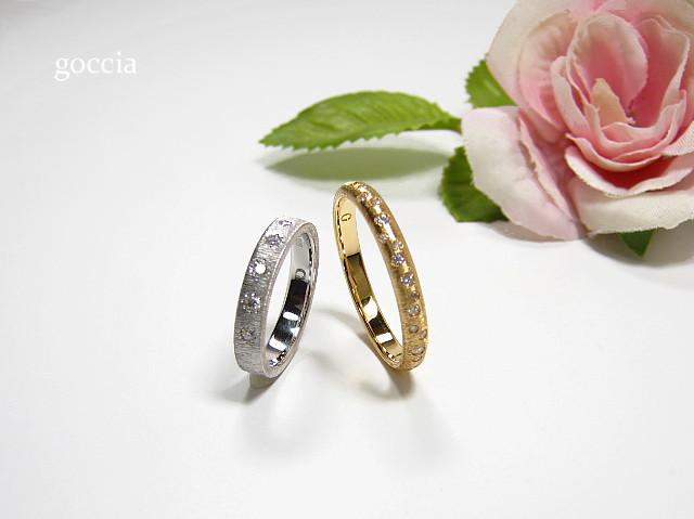 甲丸と平打ち・結婚指輪