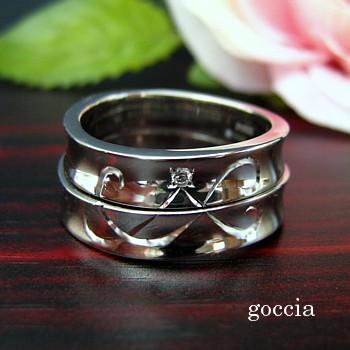 重なるデザイン・結婚指輪