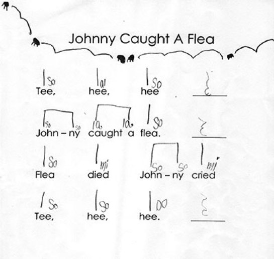 Johnny Caught a Flea with Illustration.