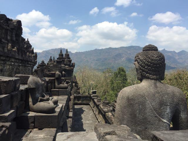 Borabudur temple in Java
