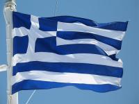 Greek Flag, Waving in the Breeze