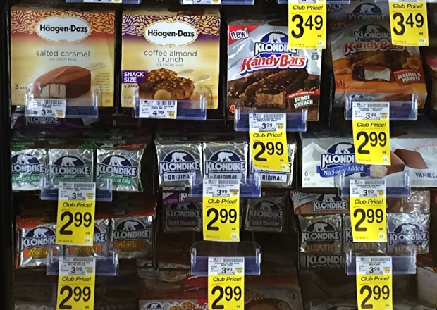 klondike kandy bars at Safeway