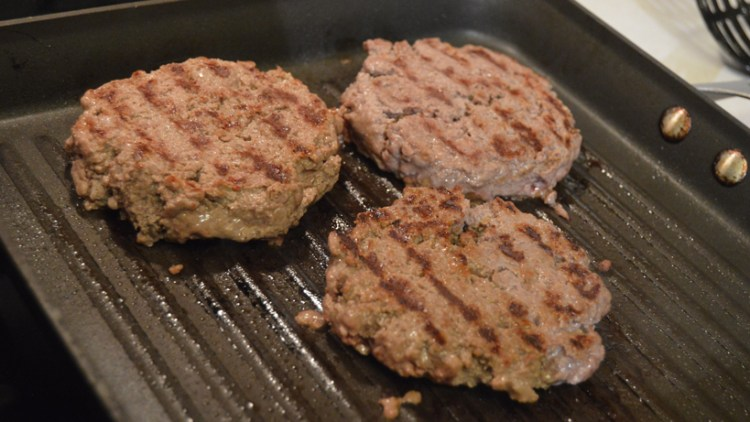 Grilling wild game burgers