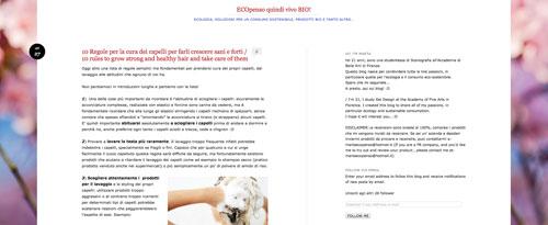 Intervista all' ecobio blog ECOpenso quindi vivo BIO