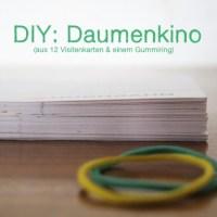 Daumenkino, Selbermachen, Basteln DIY, Upcycling, Idee, Visitenkarten, Kinder, Spielzeug, Adventskalender, Stapel