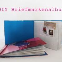 Briefmarkenalbum, Kinder, DIY, Selbermachen, Basteln, Idee, Upcycling, Recycling, Papier, Pink, Rosa, Türkis, Titel