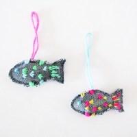 Fische, Anhänger, Upcycling, Ideen, DIY, Stoffreste, Selbermachen, Adventskalender, Füllung, Upcycling