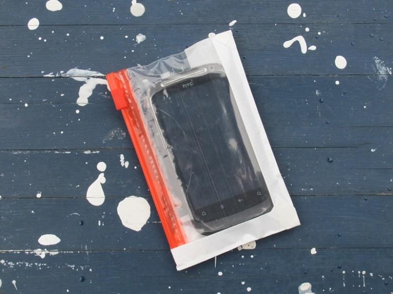 DIY Spritzwasserschutz Smartphone