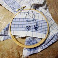 Stofftaschentücher, Stopfen, Visible Mending