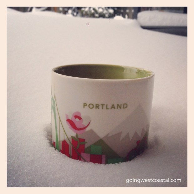 Easy iced coffee in the Portland snow