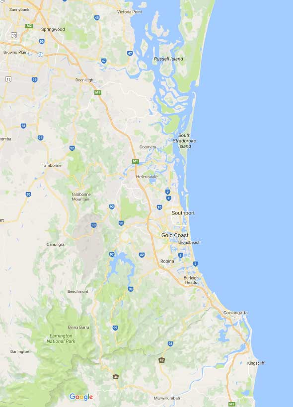 Gold Coast Roof Repairs Service Area - Greater Gold Coast and Surrounding Suburbs