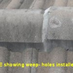 Weep Holes not installed