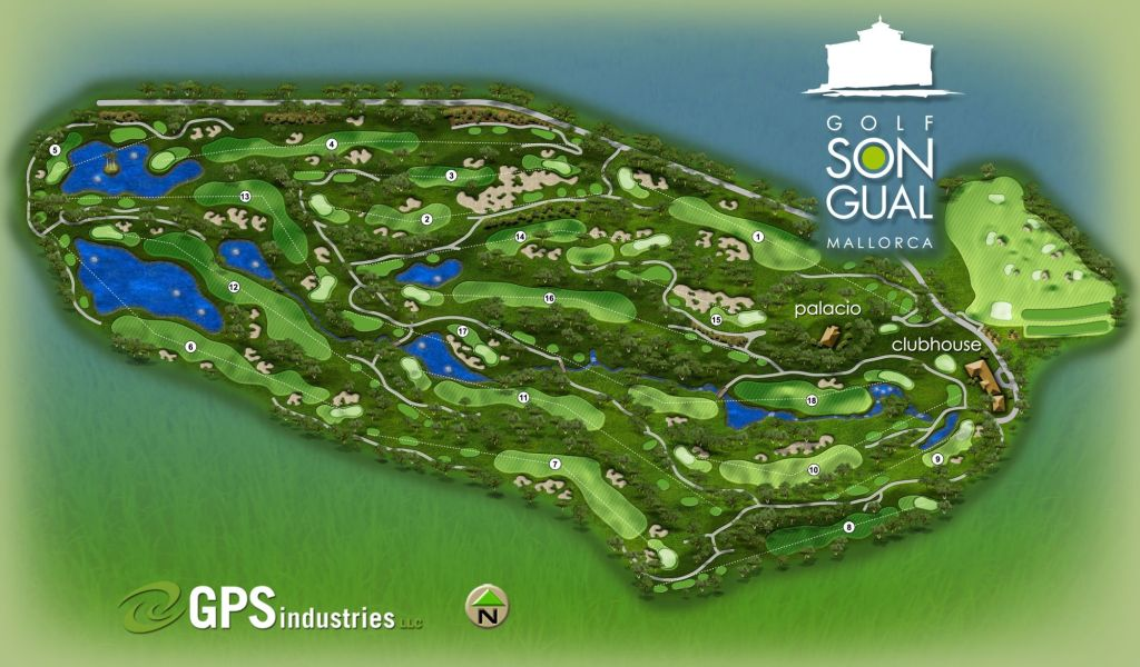 golf son gual mallorca map course