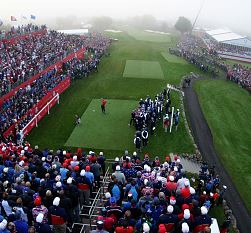 Patrick Reed Tees Off In Morning Foursomes At The Ryder Cup
