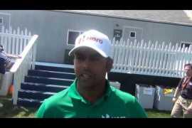 Lahiri happy after R1 progress at PGA Championship