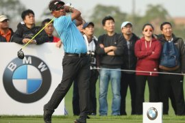 Thongchai Jaidee shot a brilliant 66 in the third round of the BMW Masters