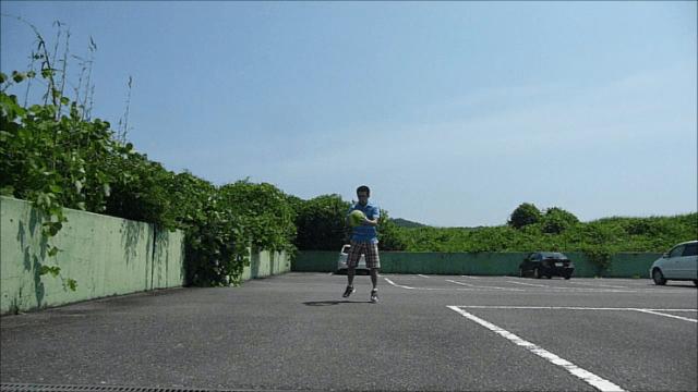 メディシンボール投げ前①