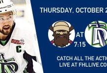 WATCH live streaming hockey games FHL Exhibition Game: Berlin River Drivers vs Danbury Titans Thurs Oct 20 7:15PM