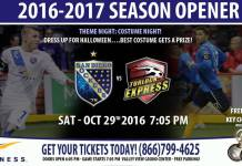 2016-17 Sockers Home Opener hosting Turlock Express Oct. 29th 7:05pm watch live video